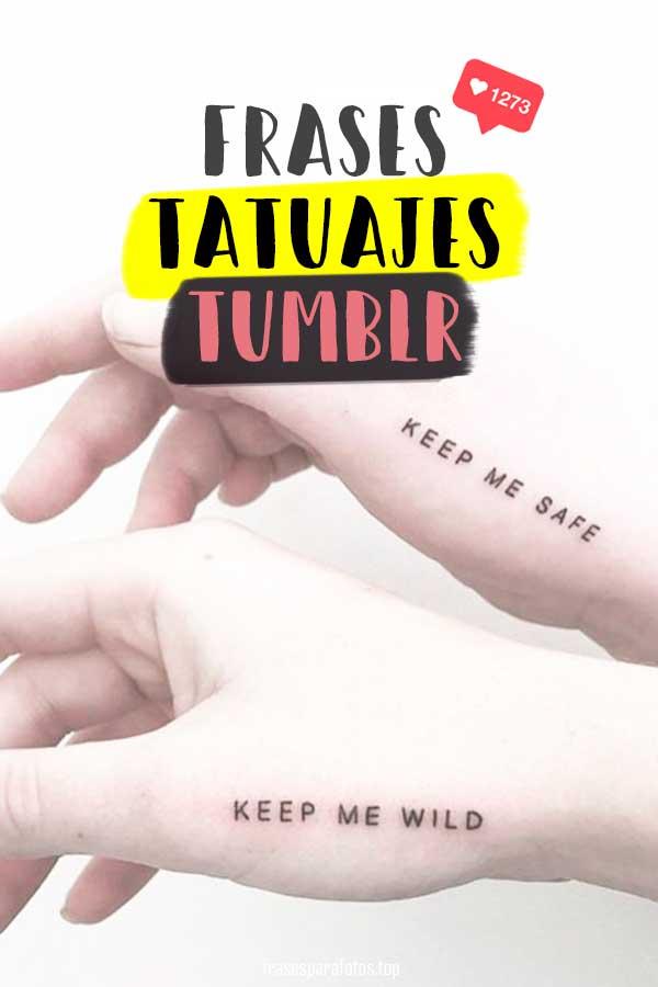 Frases Para Tatuajes Tumblr Palabras Para Tatuarse Cortas